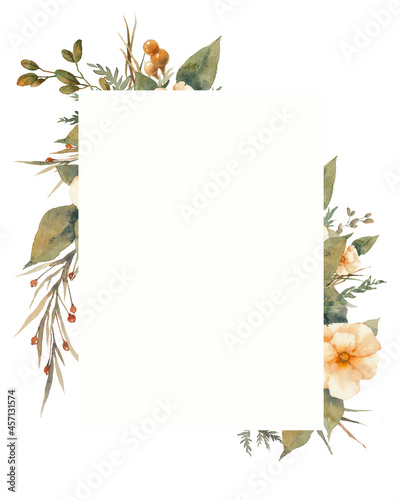 Floral frame Fototapete