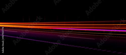 Fotografie, Obraz Night road lights