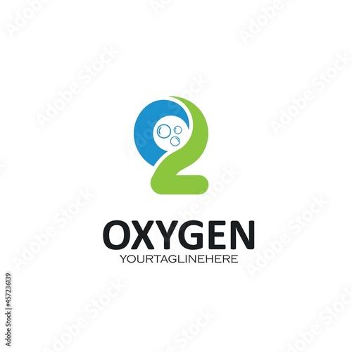Canvas Print oxygen icon vector concept design web