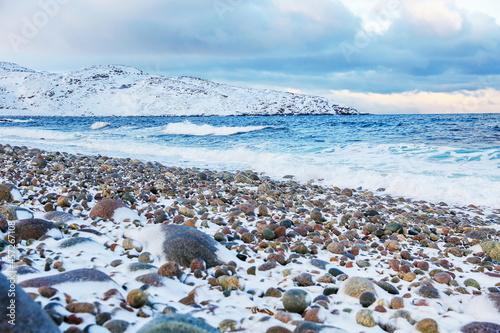 Fotografering beautiful north sea in winter