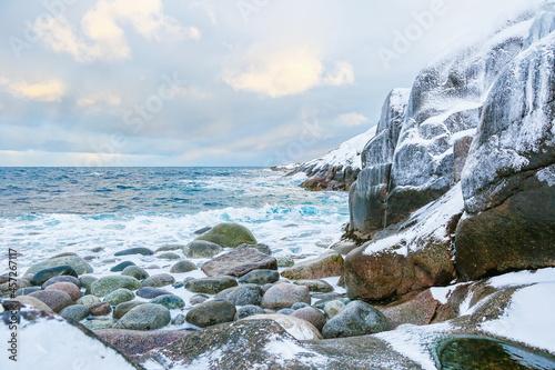 beautiful north sea in winter Fototapet