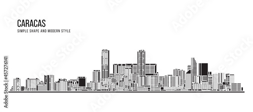 Fotografia Cityscape Building Abstract Simple shape and modern style art Vector design - Ca