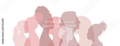 Fotografering Breast cancer awareness month concept