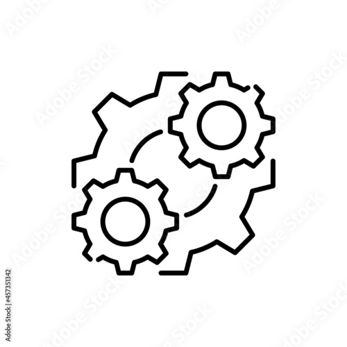 Obraz na plátně Consolidation vector outline icon style illustration. EPS 10 file