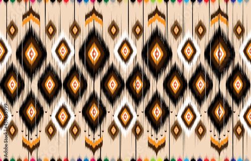 Ikat geometric folklore ornament Fototapet