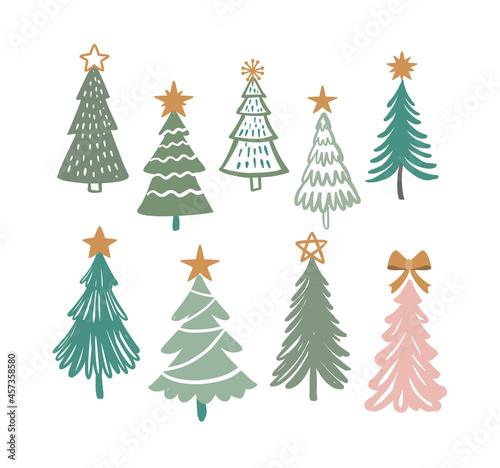 Obraz na plátně Christmas trees vector