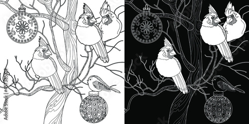 Art therapy coloring page Fototapet