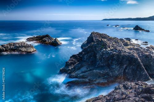 日本 岩手大船渡市碁石岬展望台からの景色 Fototapet