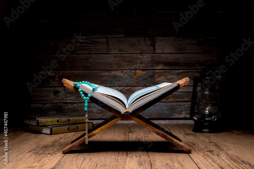 Fotografiet Islamic concept - The Holy Al Quran with written Arabic calligraphy meaning of A