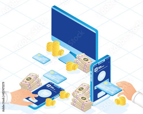 Obraz na plátně Payment online icons