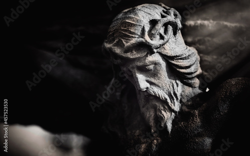 Fototapeta Antique statue of death and resurrection of Jesus Christ of Nazareth