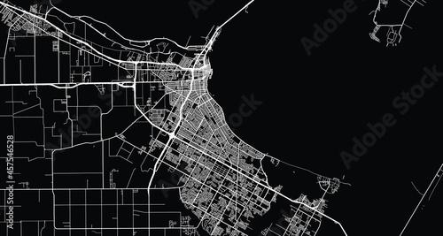 Photographie Urban vector city map of Corpus Christi, Texas , United States of America