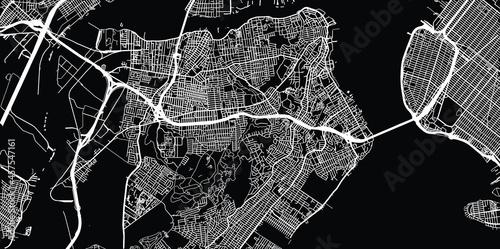 Carta da parati Urban vector city map of Staten Island, New York , United States of America