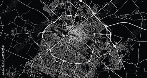 Billede på lærred Urban vector city map of Lexington, Kentucky , United States of America