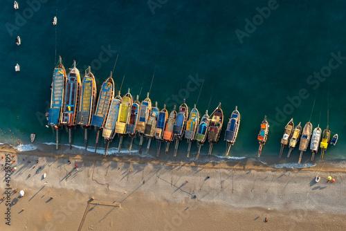 Photo Aerial view of the beach in Oludeniz, Turkey