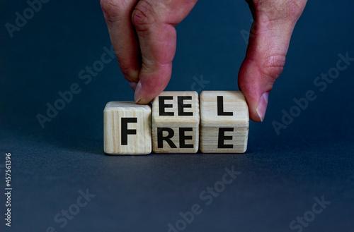 Feel free symbol Fototapet