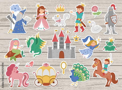 Fotografering Fairy tale character stickers collection