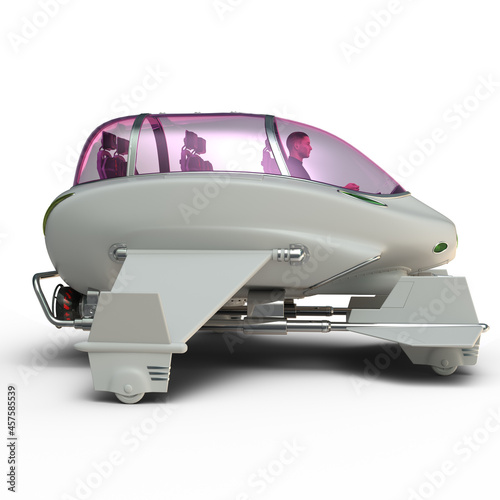 Fototapeta 3D-illustration of a space taxi from science fiction