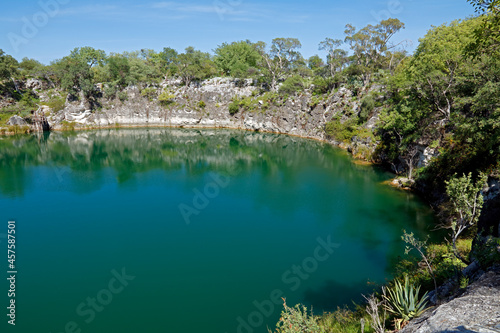 Fototapeta Scenic view of lake Otjikoto - a permanent sinkhole lake near Tsumeb in Northern Namibia
