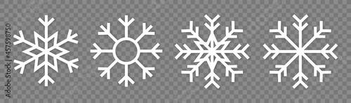 Fotografie, Obraz Snowflake variations icon collection