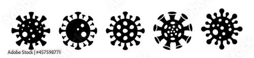 Fotografie, Obraz Coronavirus icons set