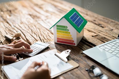House Energy Audit. Efficient Consumption Invoice Fototapet
