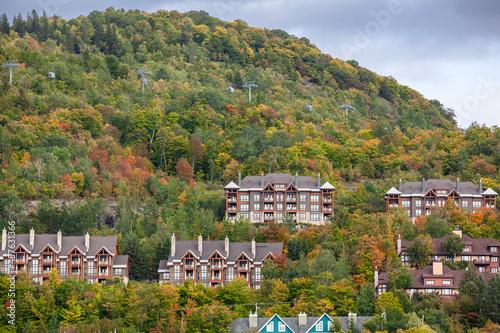 Mont Tremblant Resort in autumn, Quebec