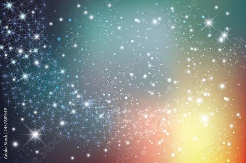 Photo 輝く星雲の銀河イメージ背景