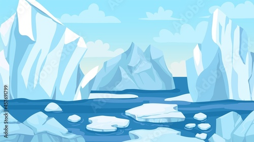 Fotografering Cartoon arctic landscape