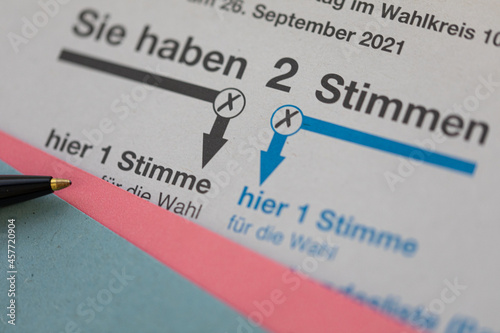 Stampa su Tela Wahlschein und Briefwahl zur Bundestagswahl