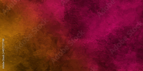Fotografiet Colorful fuchsia neon paper textured aquarelle canvas for modern creative design