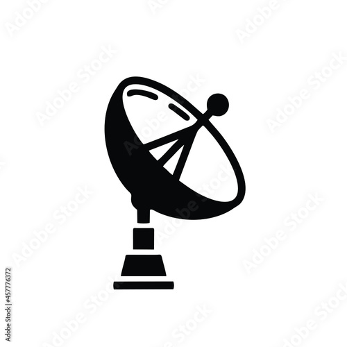 Billede på lærred parabolic antenna icon isolated on white background from media collection