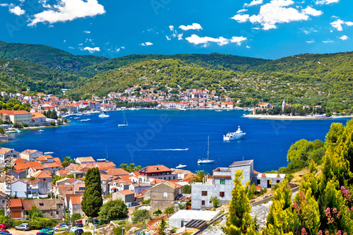 Tela Town of Vis bay and waterfront view