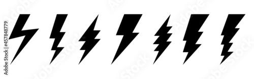 Photo Set of 7 Lightning flat icons