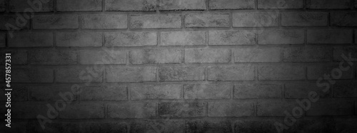 Canvas Print dark and black wall banner and blank cement and concrete background