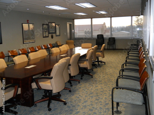 Canvas conference rooms in city hall