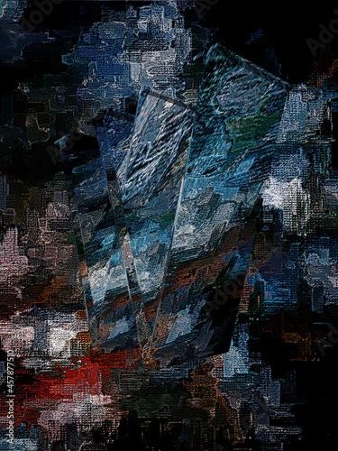 Obraz na plátně 3d abstraction illustration of object logo on background