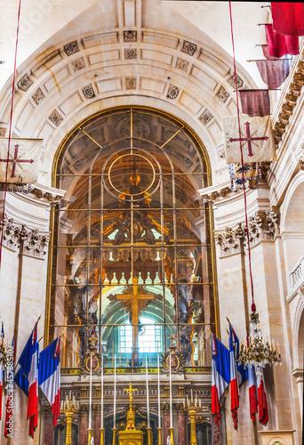 Golden Cross Altar Church Les Invalides Paris France Fototapet