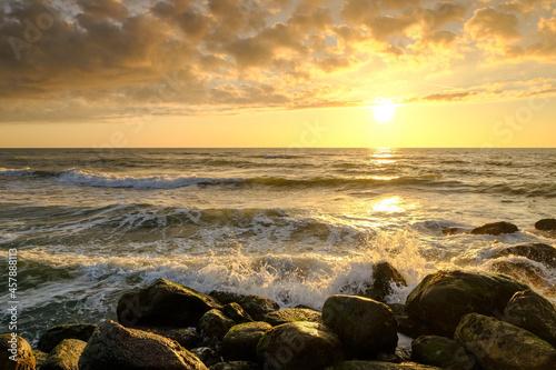 Wallpaper Mural Gorgeous Sunset on the Coast of northern Jutland, Denmark, Europe