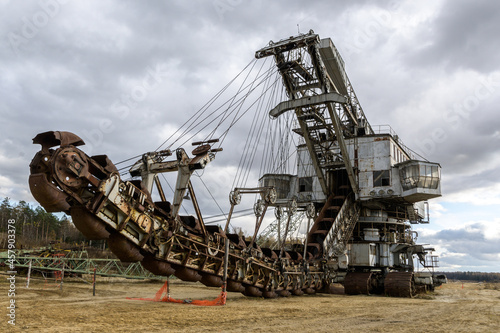 Fototapeta coal mine shaft