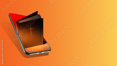 Foto Bible in the smartphone
