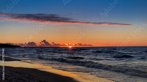 zachód słońca ustka