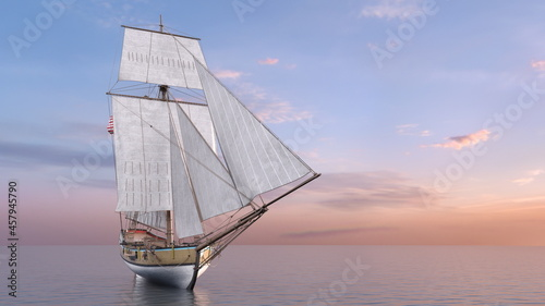 Obraz na płótnie 帆船