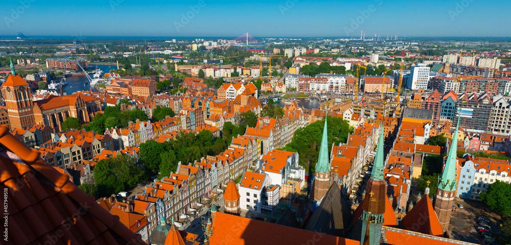 Image of landscape of Gdansk in the Poland.