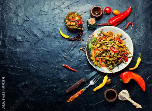 Fotografie, Obraz Spicy vegetable appetizer