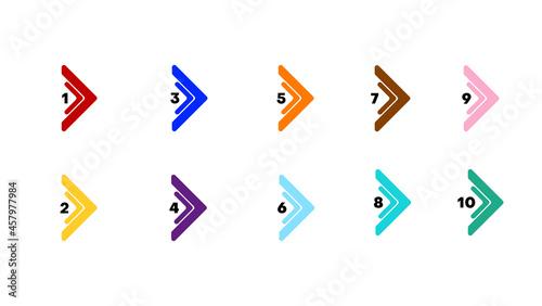 Fotografie, Obraz direction number bullet points