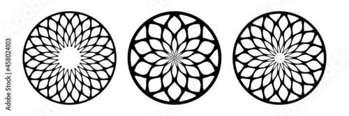 Fotografia Abstract circle patterns set. Round design elements.