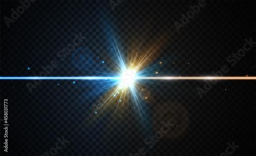 Obraz na plátne Two color forces lights