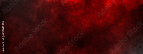 Canvas-taulu dark saturated black magic background with red fog