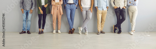 Fotografie, Obraz Group of successful confident business people in smart and casual wear standing in studio